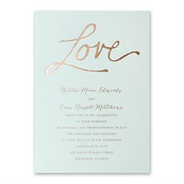 Pure Love - Mist Shimmer - Foil Invitation