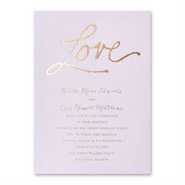 Pure Love - Lilac Shimmer - Foil Invitation