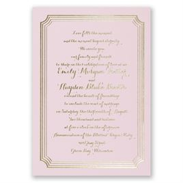 Impressive Borders - Pink - Foil Invitation
