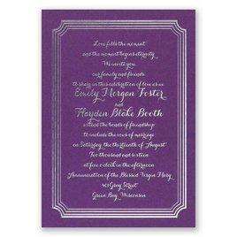 Impressive Borders - Purple Shimmer - Foil Invitation