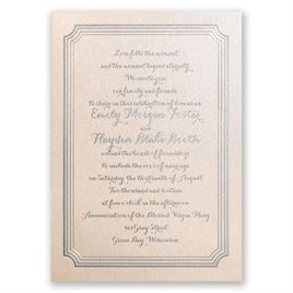 Impressive Borders - Blush Shimmer - Foil Invitation
