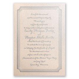 Impressive Borders - Blush Shimmer - Foil Invitation