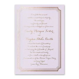 Impressive Borders - Lilac Shimmer - Foil Invitation