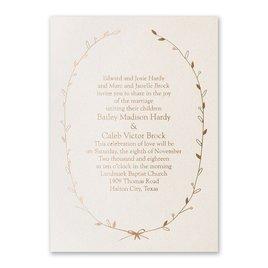 Naturally Beautiful - Ecru Shimmer - Foil Invitation