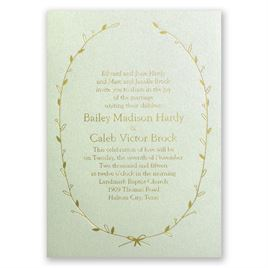 Naturally Beautiful - Pistachio Shimmer - Foil Invitation