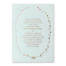 Naturally Beautiful - Mist Shimmer - Foil Invitation