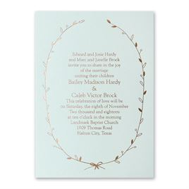 Naturally Beautiful - Mist Shimmer - Foil Invitation