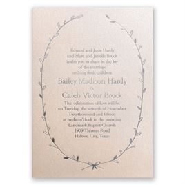 Naturally Beautiful - Blush Shimmer - Foil Invitation