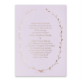 Naturally Beautiful - Lilac Shimmer - Foil Invitation