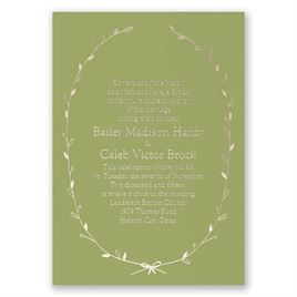 Naturally Beautiful - Olive - Foil Invitation