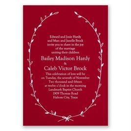 Naturally Beautiful - Red - Foil Invitation