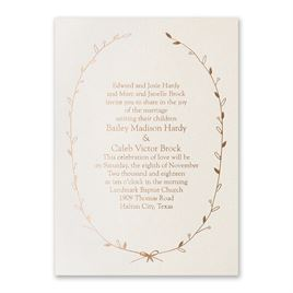 Foil Stamped Wedding Invitations: 