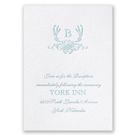 Antler Crest - White - Featherpress Reception Card