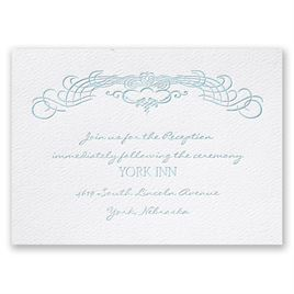 Big Day - White - Featherpress Reception Card