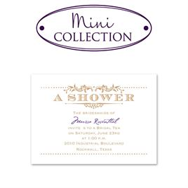 bridal shower invitations vintage celebration mini wedding shower invitation