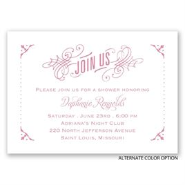 True Art - Mini Wedding Shower Invitation