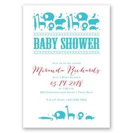 Jungle Theme Baby Shower Invitations: Contemporary Jungle Baby Shower Invitation