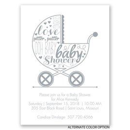 Pretty Bassinet - Petite Baby Shower Invitation