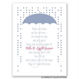 Showered with Love - Petite Baby Shower Invitation