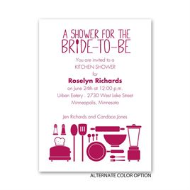 Chic Kitchen - Petite Bridal Shower Invitation