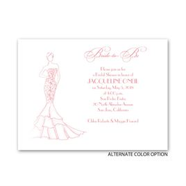 Bridal Fashion - Petite Bridal Shower Invitation