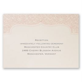 Faded Pink Filigree - Reception Card