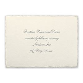 Pearl Trim - Reception Card