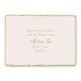 Gold Trim - Reception Card