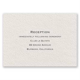 Textured Ecru - Reception Card