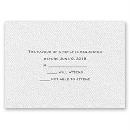 Textured White - Response Card