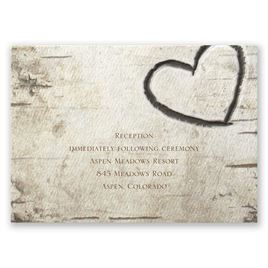 Birch Tree Carvings - Reception Card