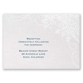 "Winter""s Kisses - Reception Card"