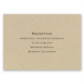 Kraft - Reception Card