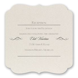 Contoured Elegance - Reception Card