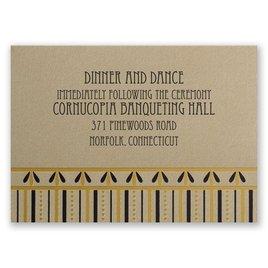 Gatsby Glam - Reception Card