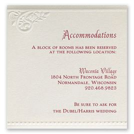 Wedding accommodation cards invitations by dawn wedding accommodation cards pearls and lace accommodations card filmwisefo