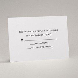 White Shimmer - Response Card and Envelope