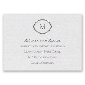 Celestial Crest - Reception Card