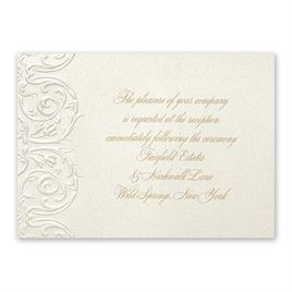 Luminous Filigree - Reception Card