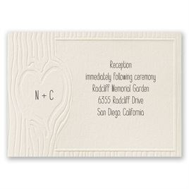 Heartfelt - Ecru - Reception Card