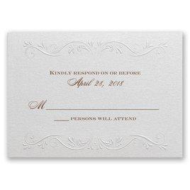 Wedding Response Cards: Garden Crest - Response Card