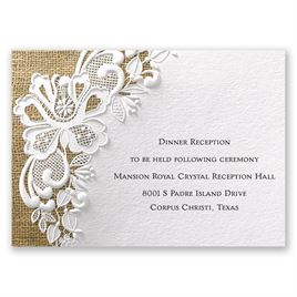 lacy dream reception card invitations by dawn
