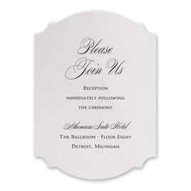 Sparkling Beauty - Reception Card