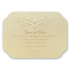 Opulent Lace - Reception Card