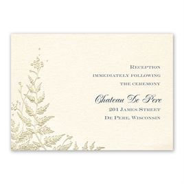 Ferns of Gold - Reception Card