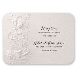 Flowers and Filigree - Reception Card