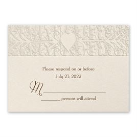 Wedding Response Cards: Carved Elegance Response Card and Envelope