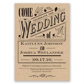 Nature Wedding Invitations: 