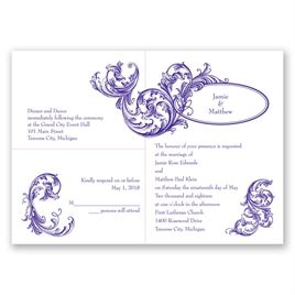 Posh Flourish - 3 for 1 Invitation