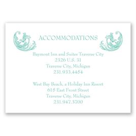 Posh Flourish - Accommodations Card